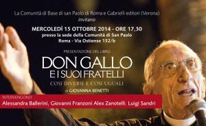 invito don Gallo Roma sito